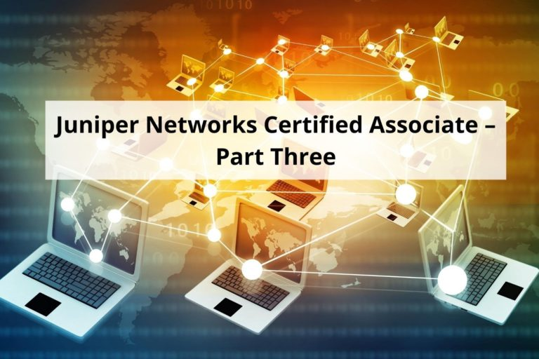 This is the third course in the series for Juniper Networks Certified Internet Associate exam.