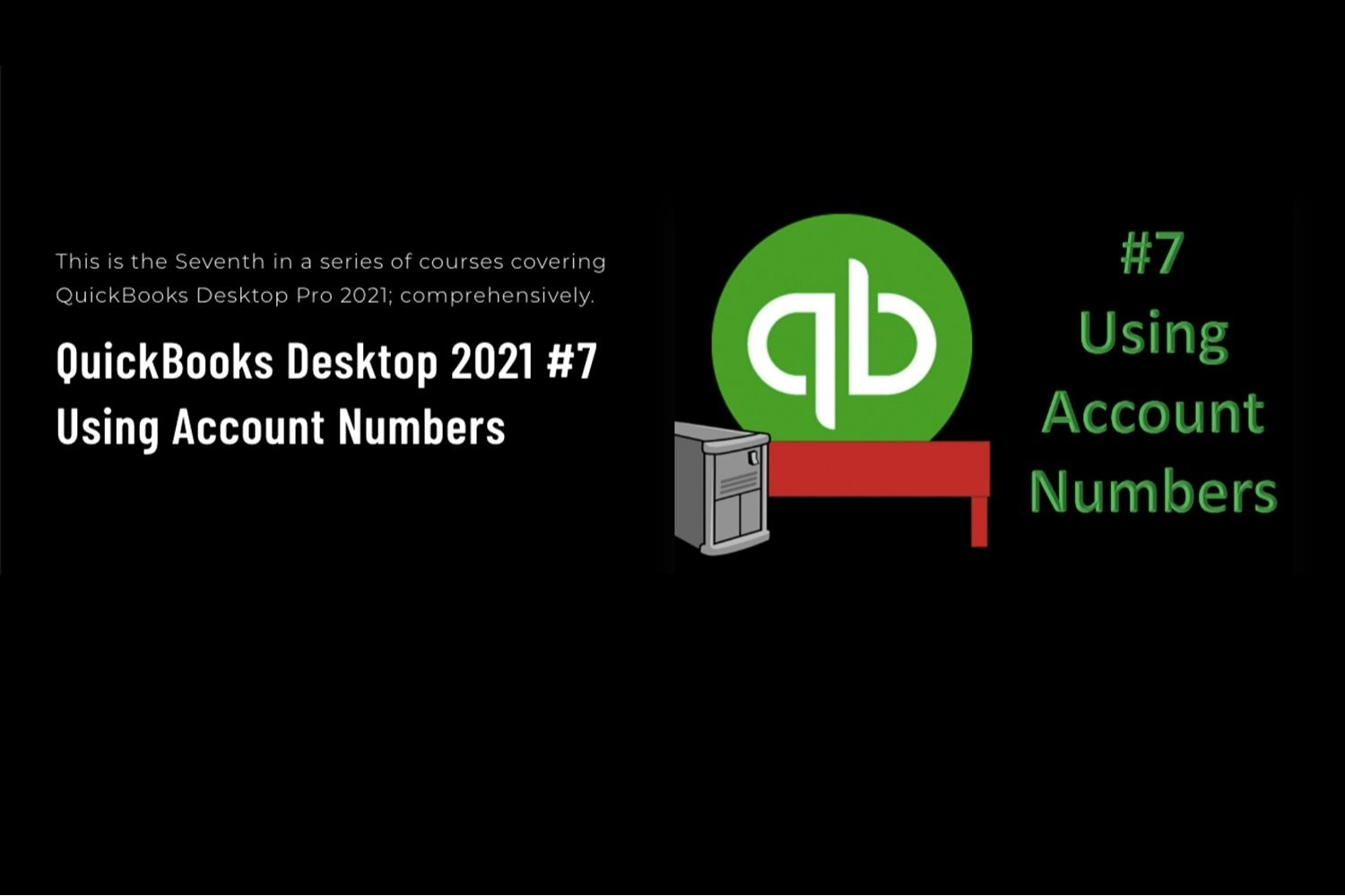 QuickBooks Desktop Pro 2021 - learn about using account numbers.